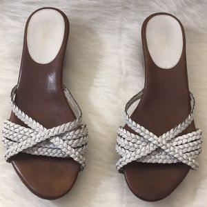 Cole Haan Braided Strappy Nike Air Wedge Sandals